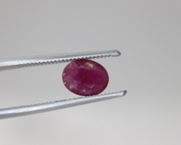 #216 1.44CT  NATURAL EARTH MINED RUBY NOT TREATED