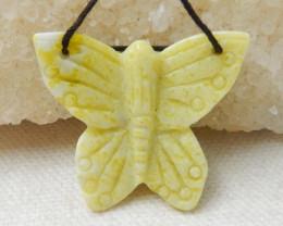 32.7 Cts Serpentine Butterfly Bead ,Shantoustone E846