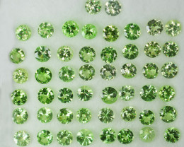 10.08Cts Natural Mint Green Tsavorite Garnet 3.50mm Round Parcel Kenya