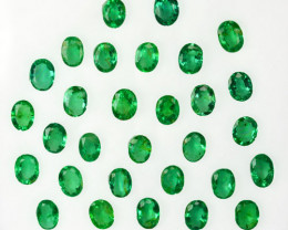 5.17Cts Natural Colombian Emerald Oval 4 X 3mm Parcel