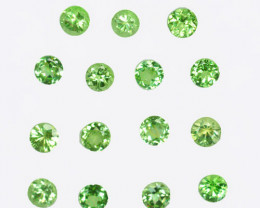 2.96Cts Natural Mint Green Tsavorite Garnet 3.50mm Round Parcel Kenya