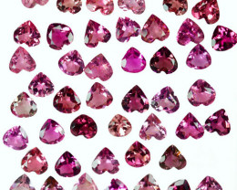 14.20Cts NATURAL PINK TOURMALINE HEART 5mm PARCEL