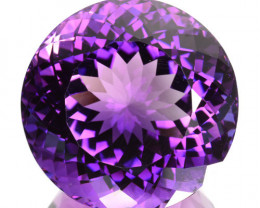 32.70 Cts Natural Purple Amethyst Round Bolivia Gem