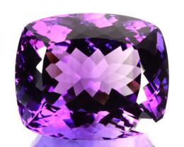 39.62 Cts Natural Purple Amethyst Cushion Bolivia Gem