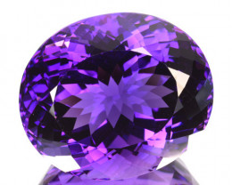 30.72 Cts Natural Purple Amethyst Oval Bolivia Gem