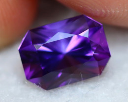 Top Amethyst 1.74Ct Natural Uruguay Top Color Master Cutting BN81