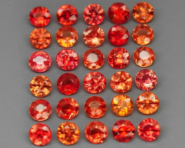 165PCS - 7.40 cts - Imperial Red Sapphires lot