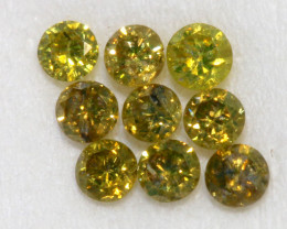 0.13- CTS  YELLOW  DIAMONDS  FACETED PARCEL ( 9 PCS) SD-382