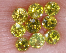 0.12- CTS  YELLOW  DIAMONDS  FACETED PARCEL ( 9 PCS) SD-387