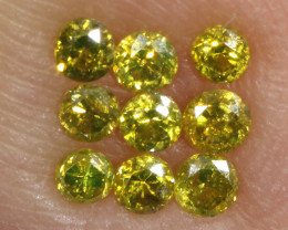 0.21- CTS  YELLOW  DIAMONDS  FACETED PARCEL ( 9 PCS) SD-389