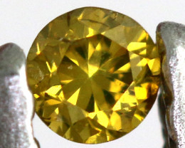 0.07- CTS  YELLOW  DIAMOND  FACETED SD-393