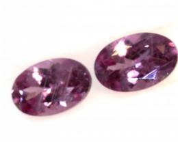 1.15-CTS-Pinkish Purple Spinel Pair  CG-2866