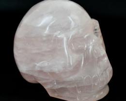 Genuine 1285.00 Cts Pink Rose Quartz Carved Skull