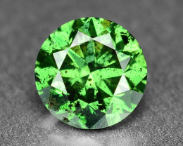 0.42 Cts  Sparkling Rare Fancy Intense Green Color Natural Loose Diamond