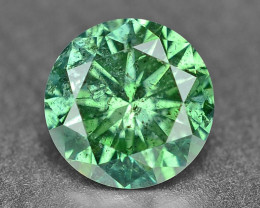 0.39 Cts Sparkling Rare Fancy Intense Green Color Natural Loose Diamond