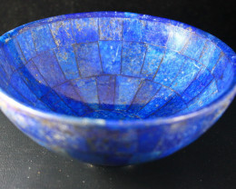 1547.70 CT Unheated ~ Natural Blue  color Lapis Carved Bowl Special Shape