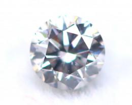 Purplish Grey Diamond 2.48mm Natural Round Cut Fancy Diamond A2010