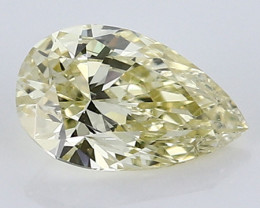 0.30 ct Pear Shape Diamond: Fancy Yellow