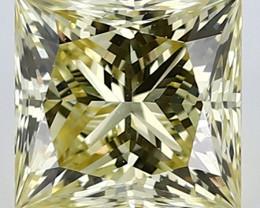 0.61 ct Princess Cut Diamond: Fancy Yellow