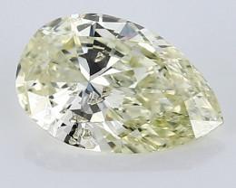 0.55 ct Pear Shape Diamond: Fancy Light Yellow