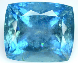 14.91 Cts Natural Blue Aquamarine Cushion Cut Santa maria - India