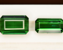 Top Color 5.30 ct Natural Green Color Tourmaline ~ Pairs