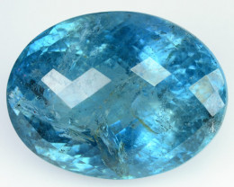 23.19 Cts Natural Blue Aquamarine Oval Checkerboard  Santa maria - India