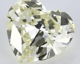 1.21 ct Heart Shape Diamond: Fancy Light Yellow