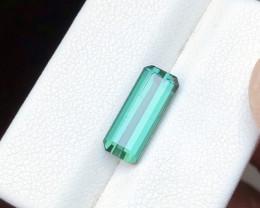 3.10 Ct Natural Blueish Green Transparent Tourmaline Gemstone