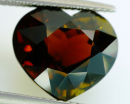 9.58 ct . Unheated  Natural Tourmaline Heart  - IGE Certificate