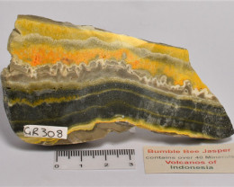 BUMBLE BEE JASPER from Volcano's Of Indonesia (GR308)