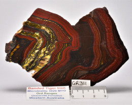 Banded Tiger Iron Microbialite,  Australia (GR311)
