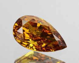 ~UNTREATED~ 0.17 Cts Natural Diamond Fancy Yellow Pear Cut Africa