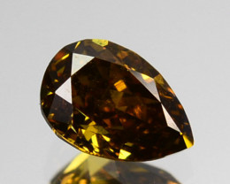 ~UNTREATED~ 0.24 Cts Natural Diamond Fancy Yellow Pear Cut Africa