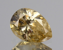 ~UNTREATED~ 0.19 Cts Natural Diamond Fancy Yellow Pear Cut Africa