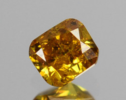 ~UNTREATED~ 0.09 Cts Natural Diamond Fancy Yellow Cushion Cut Africa