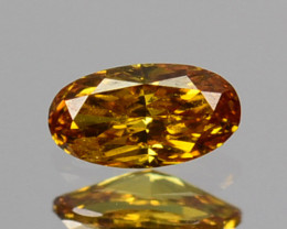 ~UNTREATED~ 0.08 Cts Natural Diamond Fancy Yellow Oval Cut Africa