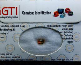 GGTI-Certified-1.05 ct Bi Tourmaline Gemstone Natural