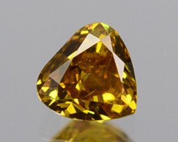 ~UNTREATED~ 0.13Cts Natural Diamond Fancy Yellow Heart mix Cut Africa