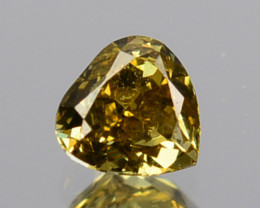 ~UNTREATED~ 0.14 Cts Natural Diamond Fancy Yellow Heart mix Cut Africa