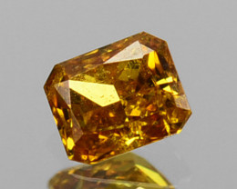 ~UNTREATED~ 0.11 Cts Natural Diamond Fancy Yellow Octagon Cut Africa