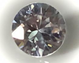 A brilliant cut White Zircon gem - No Reserve