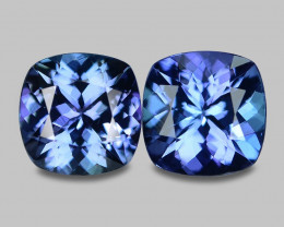 2.73 Cts 2pcs Amazing rare Intense Blue Color Natural Tanzanite Gemstone
