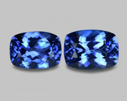 3.23 Cts 2pcs Amazing rare Intense Blue Color Natural Tanzanite Gemstone