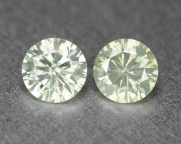0.19 Cts 2Pcs Untreated Fancy Light Grey Natural Loose Diamond