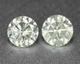 0.47 Cts 2Pcs Untreated Fancy Light Grey Natural Loose Diamond