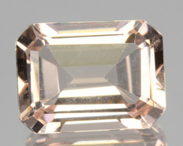 1.60 Cts NATURAL LIGHT PEACH PINK MORGANITE BRAZIL GEM