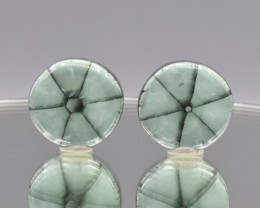 Natural Emerald Trapiche Pair 33.56 Cts  from Colombia