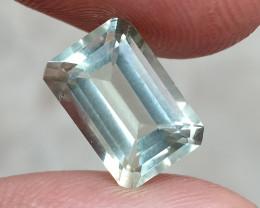 GREEN AMETHYST CHECKERED CUT Natural Gemstone VA4962