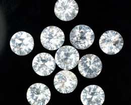 7.63 Cts Natural White Zircon Diamond Cut Round 5mm